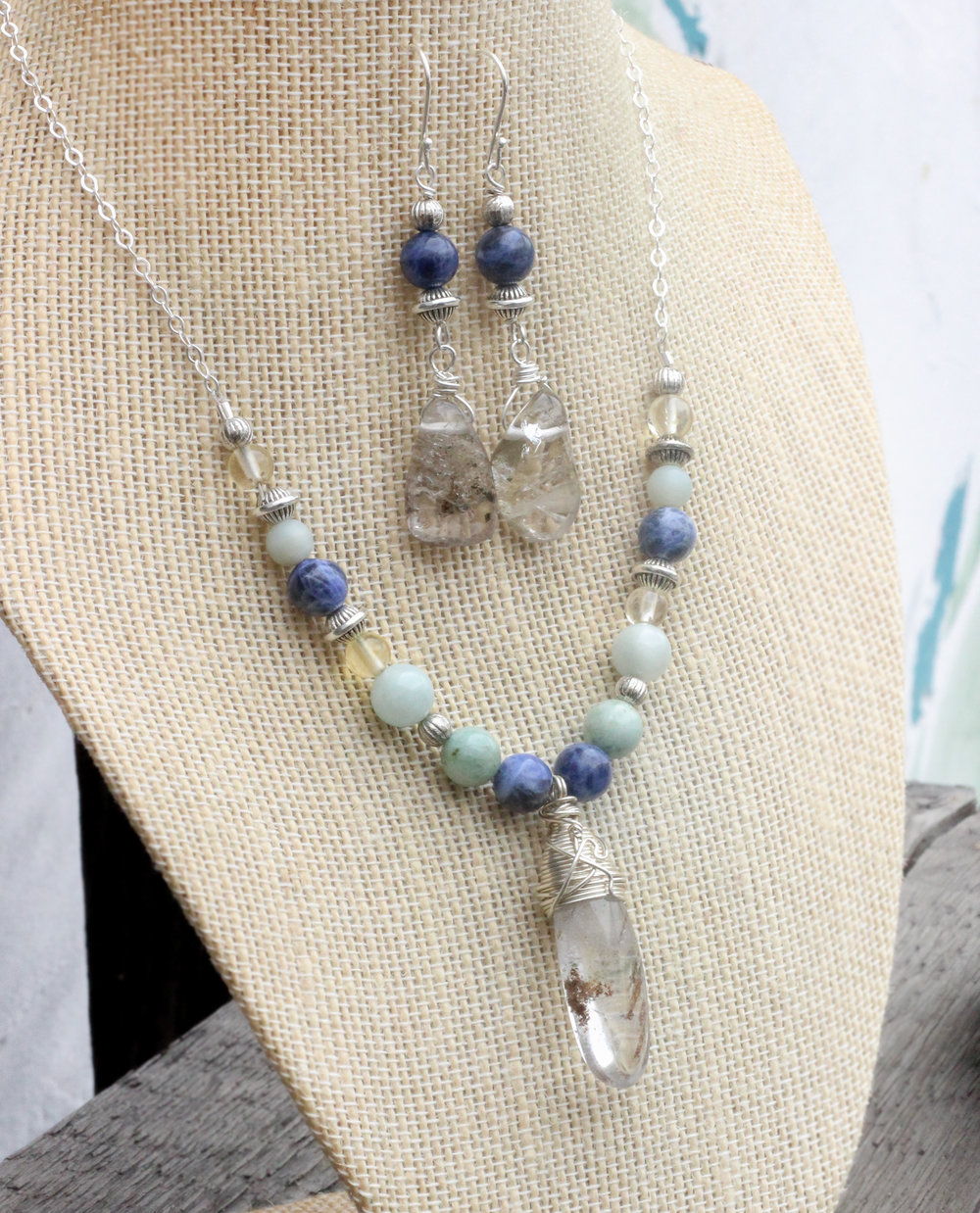 April Showers Necklace and Earrings