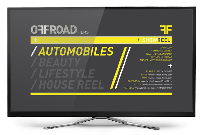 Brand Showreel Menu Screen.