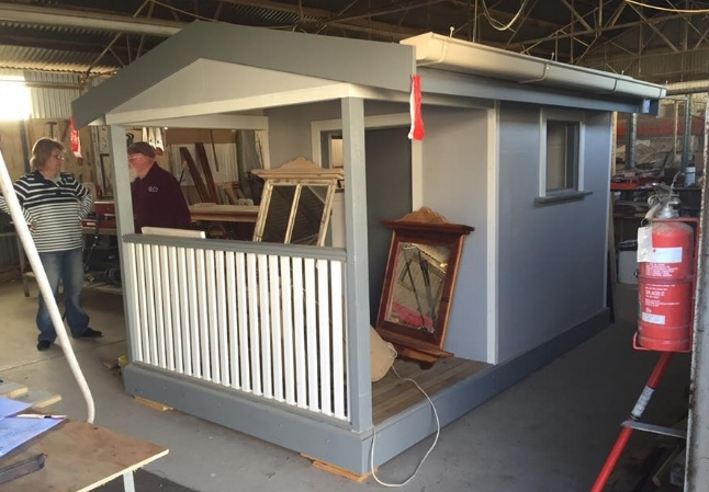 This amazing cubby house is the first prize in the Swan Hill Show's fundraising raffle which will be launched at Sunday's market.