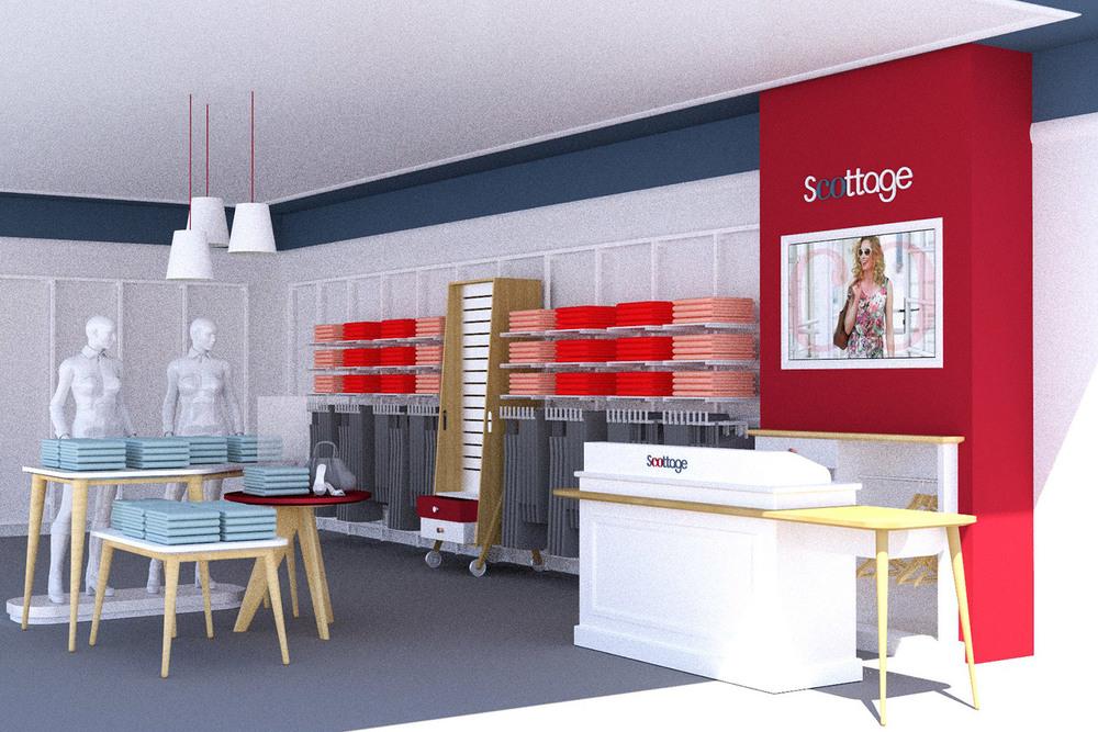 Intérieur boutique Scottage_Simulation 3D