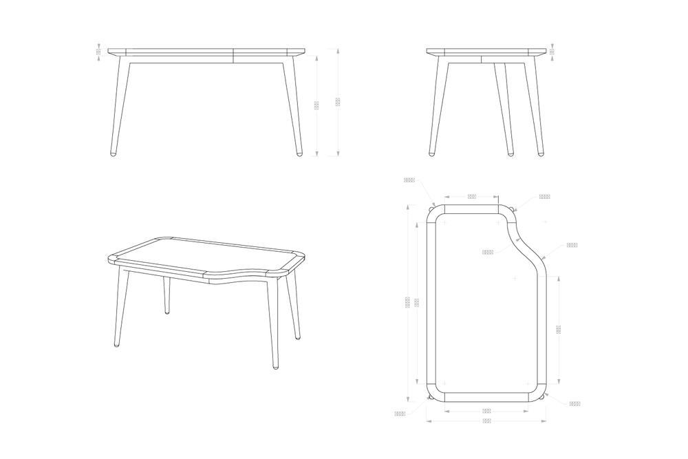 Table de mise en avant : conception, design et suivi de réalisation
