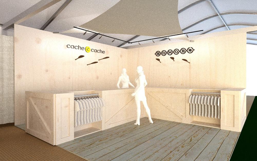 Modélisation 3D stand espace marques_route du rhum