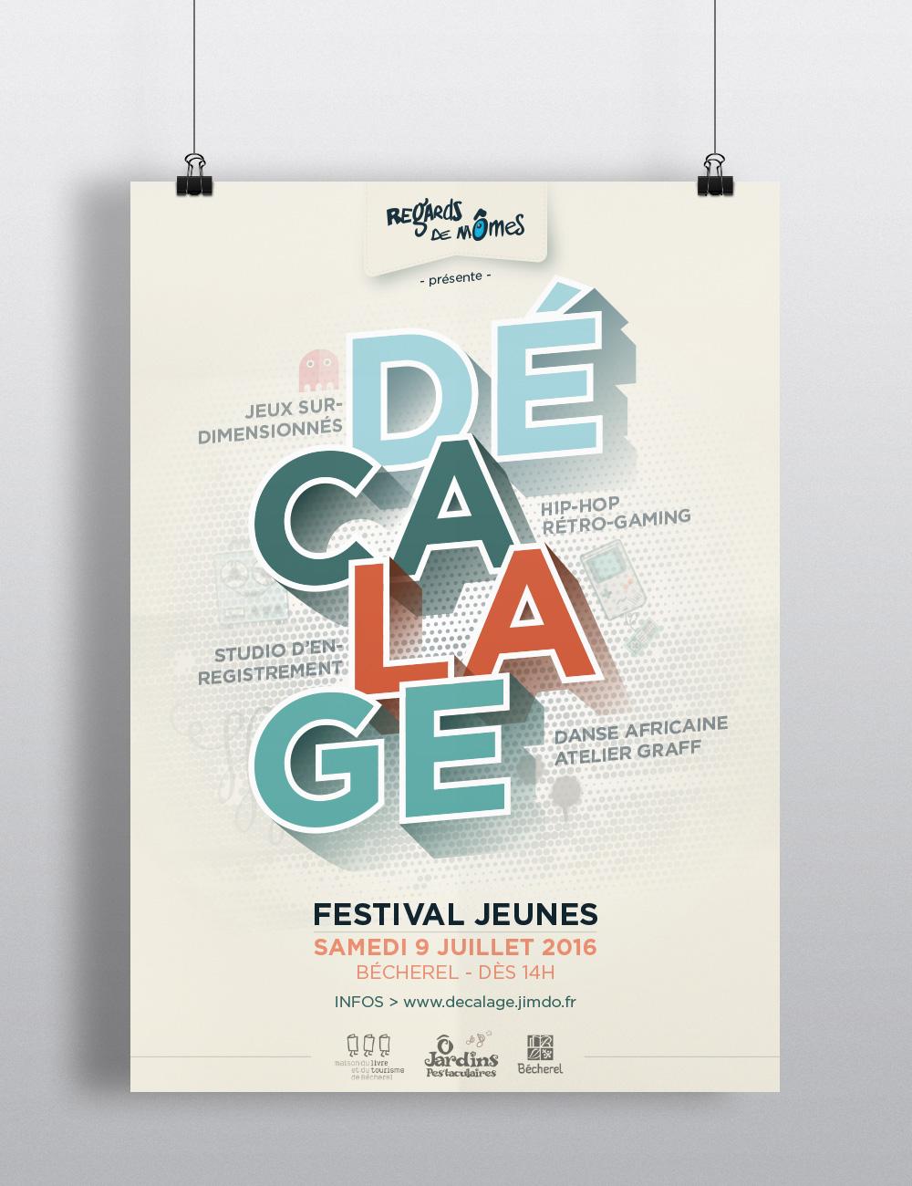 Affiche festival Ados - Décalage - 2016 #1