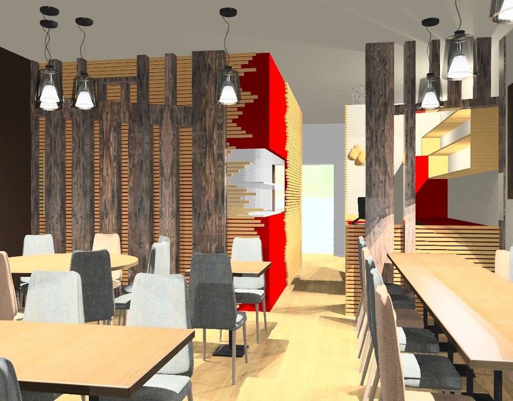 Simulation 3D - Salle restaurant
