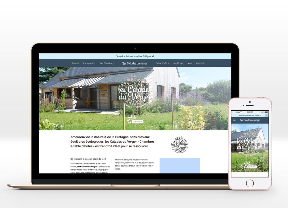 Site internet responsive design ( www.lescaladesduverger.com )