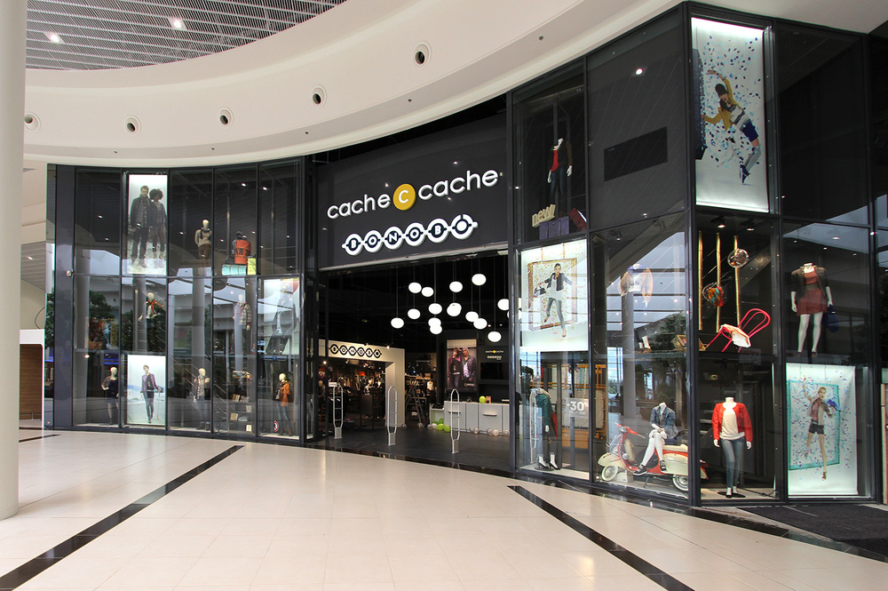 architecture commerciale - vitrines magasins - 3D