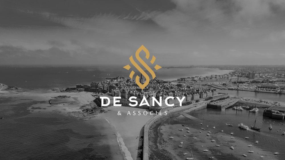 logotype - De Sancy Patrimoine (fond foncé)