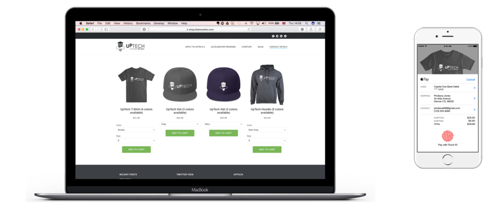 Create your own branded merchandise shop