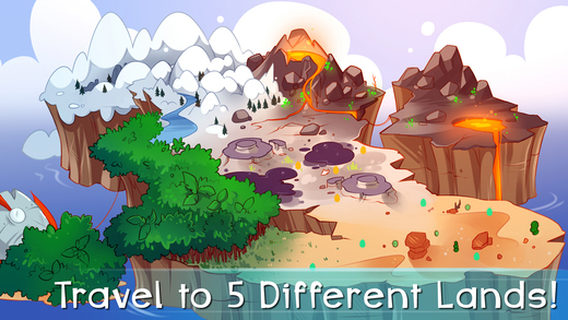 Travel to 5 different lands!