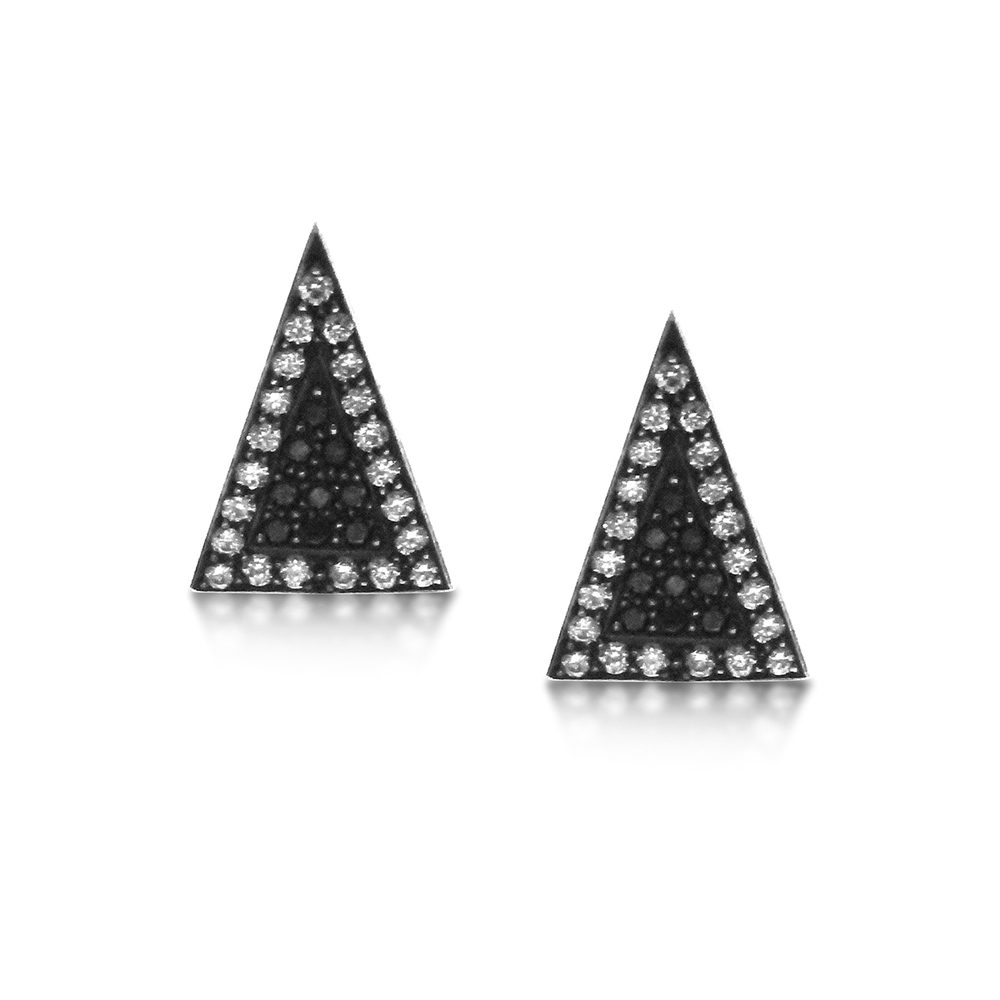 Black-and-white diamond-arrowhead ear-studs.jpg