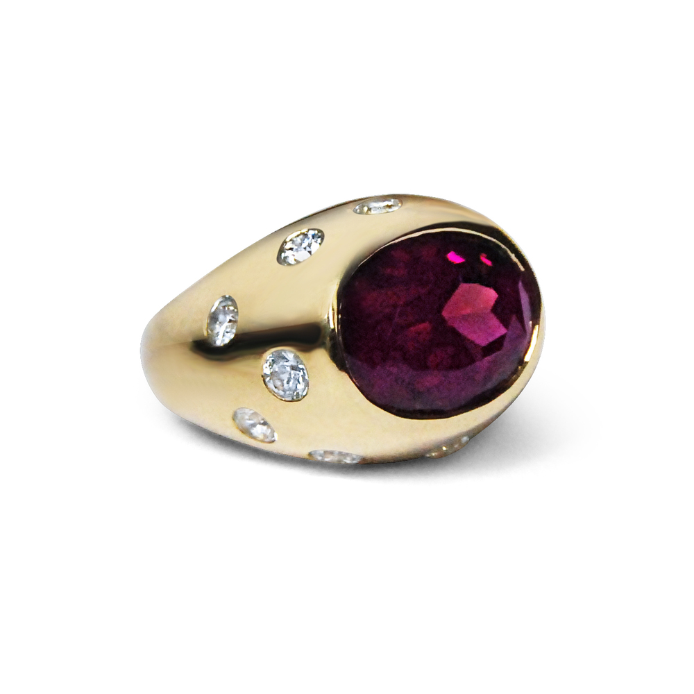 Garnet-and-white-sapphire-gold-cocktail-bombe-ring-1 .jpg