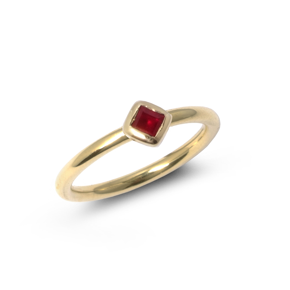 Ruby and 18ct yellow gold-rub-over-set-square-shaped-stacking-ring-SN129.jpg