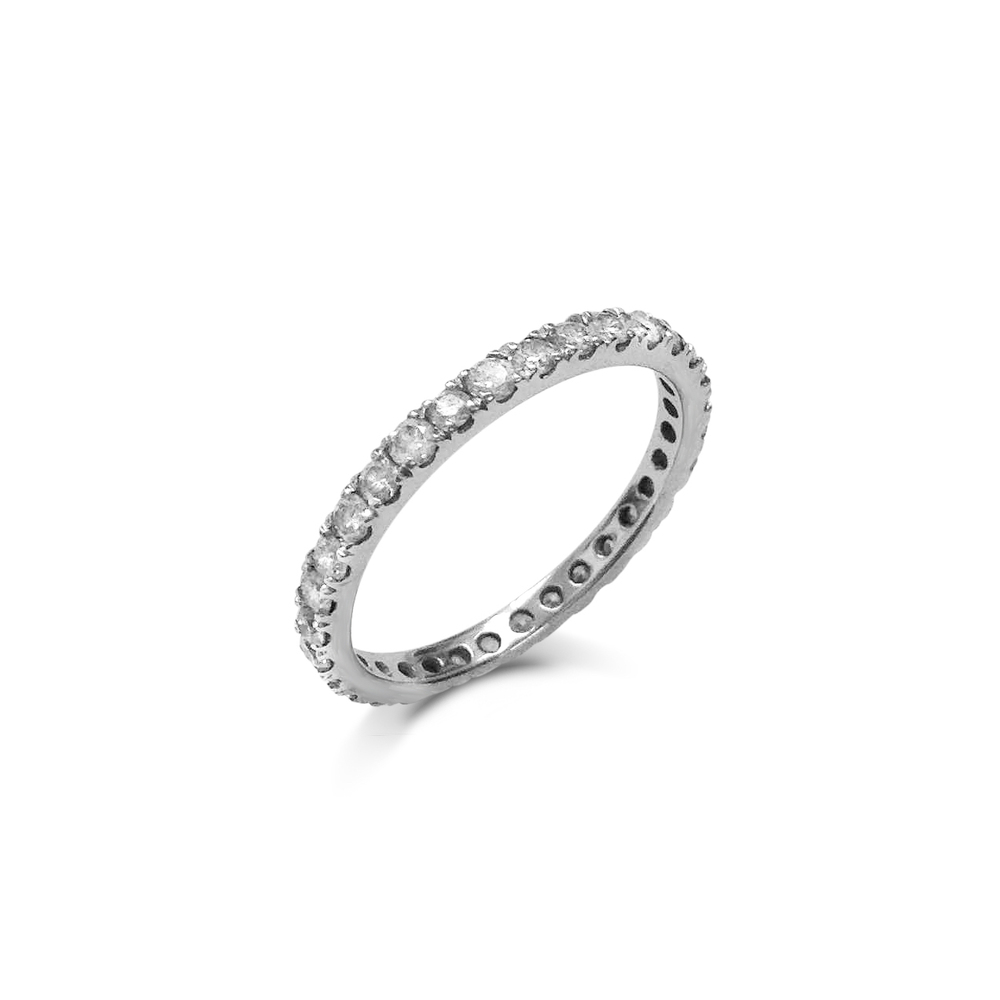 Brilliant-cut diamond full eternity ring
