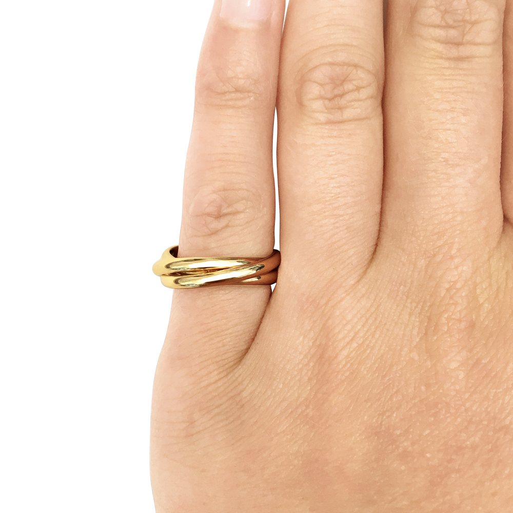 bespoke 9ct yellow gold russian wedding ringjpg - Russian Wedding Ring