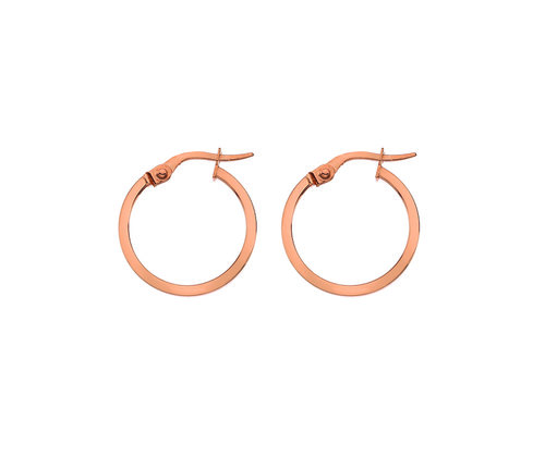 Small Rose Gold Square Wire Hoop Earrings London — Bear Brooksbank