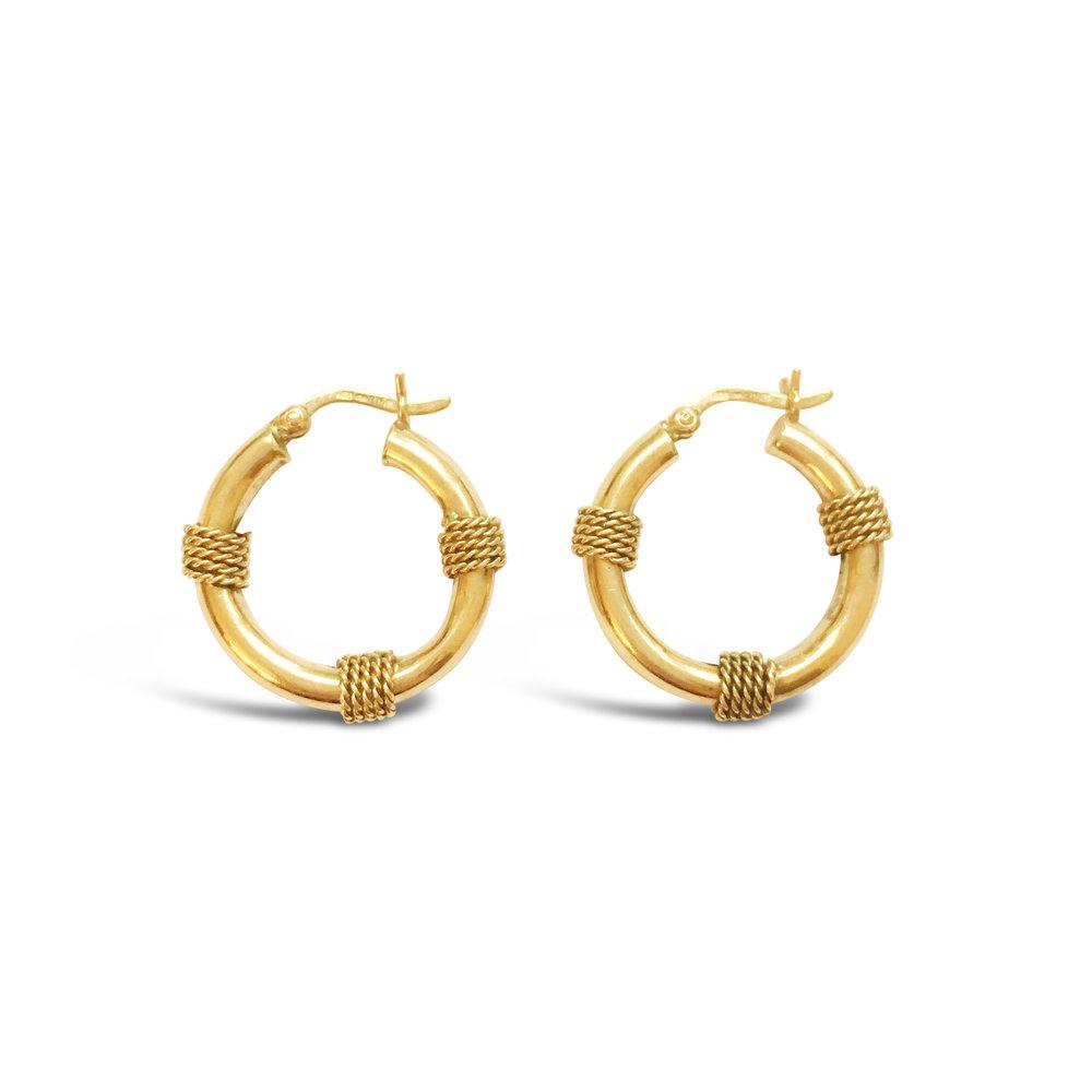 Vintage yellow gold nautical earrings