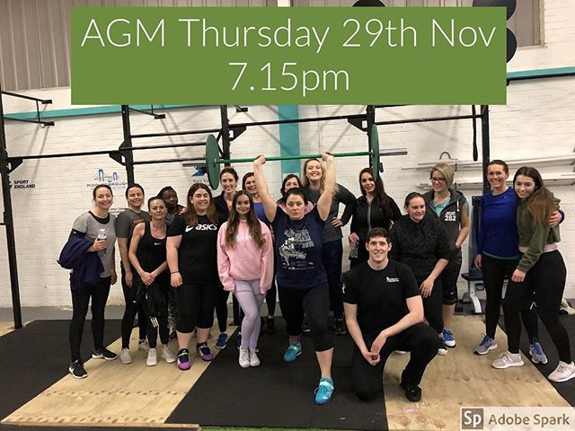 Our AGM is Thursday 29th November. Any members or volunteers to join the committee or team please come along. Hosting at @crossfitulysses TS6 6UR . Help us shape the next year ahead and further develop our growing club. Thanks to our sponsors @officialsportengland #sportengland #redcarandclevelandcouncil #teesvalleycommunityfoundation #clevelandpolice