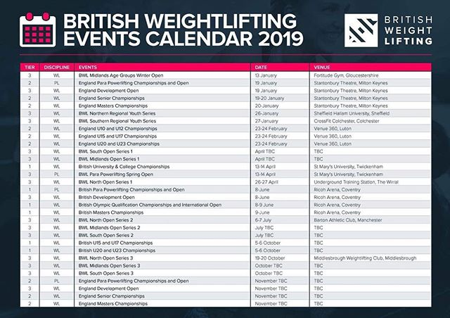 A big one for us and the north east. We're excited to announce the hosting of the British Weightlifting  open series closing event next October 19th/20th held @crossfitulysses Middlesbrough. #britishweightlifting #middlesbroughweightlifting #teessideweightlifting #middlesbroughcrossfit #crossfitmiddlesbrough