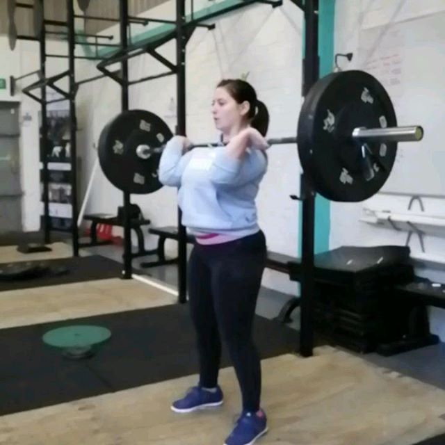 Cool slow Mo videos from this afternoons class. Jerk, clean and snatch from the talented Ellie, Hannah and Louise.  #snatch #cleanandjerk #olympicweightlifting