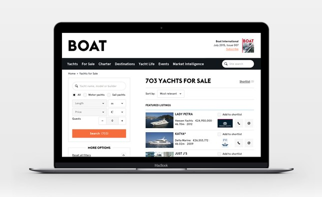 Boat International Superyacht search