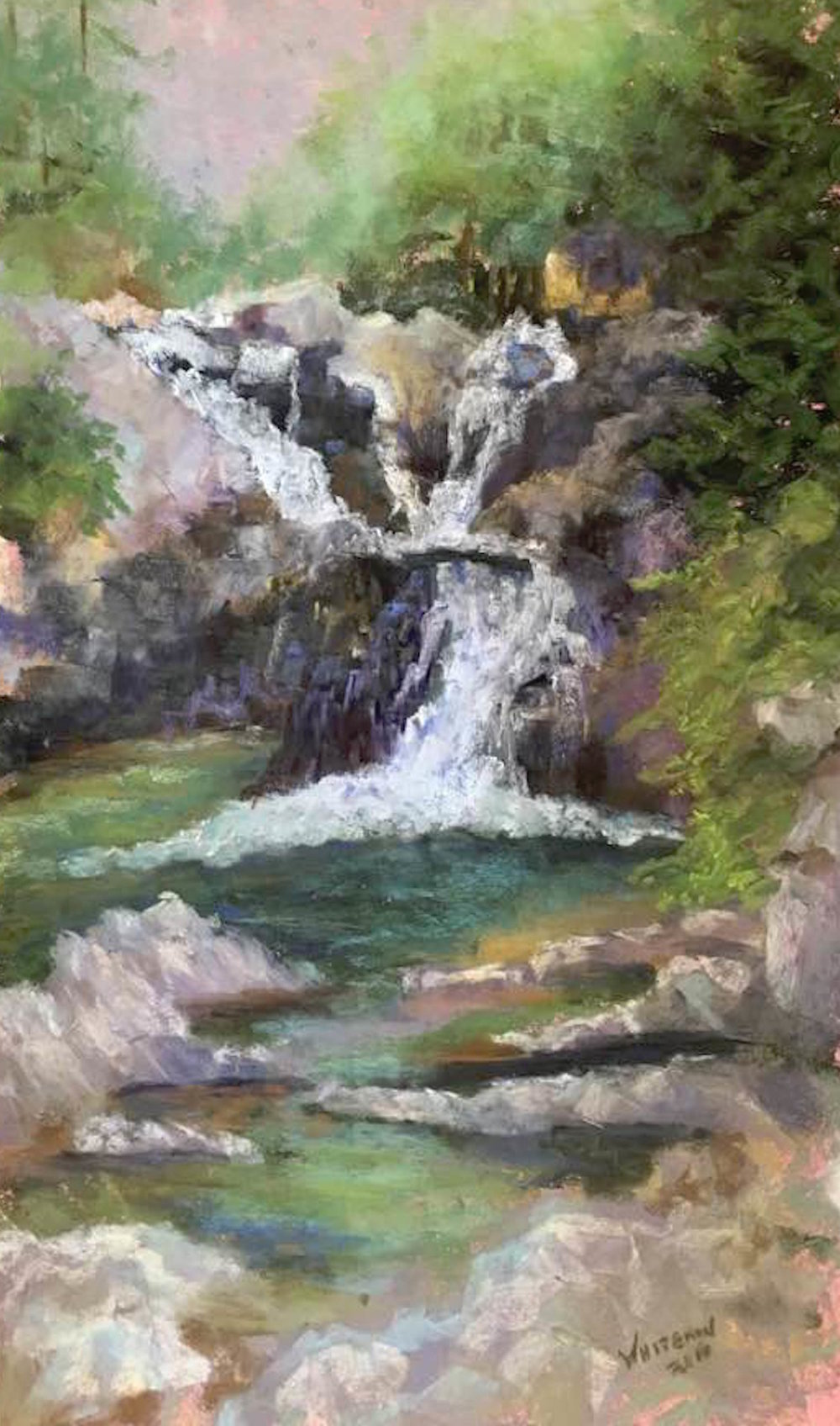 Split Rock Falls: Plein Air with Raindrops