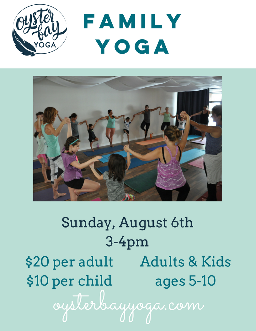family yoga in oyster bay