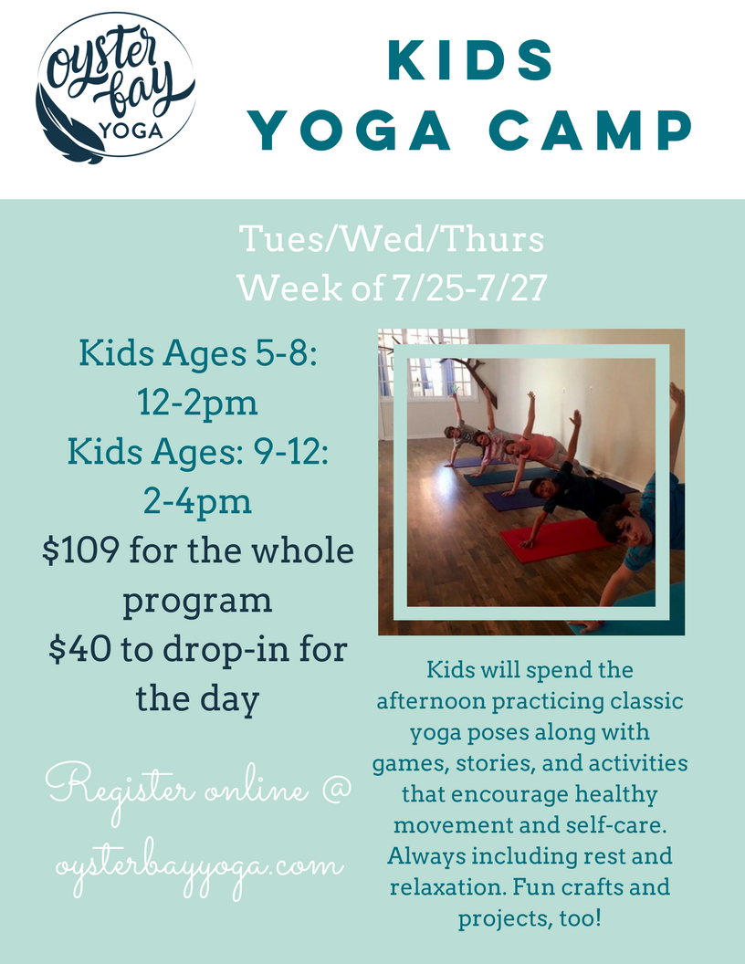 kids yoga camp in oyster bay
