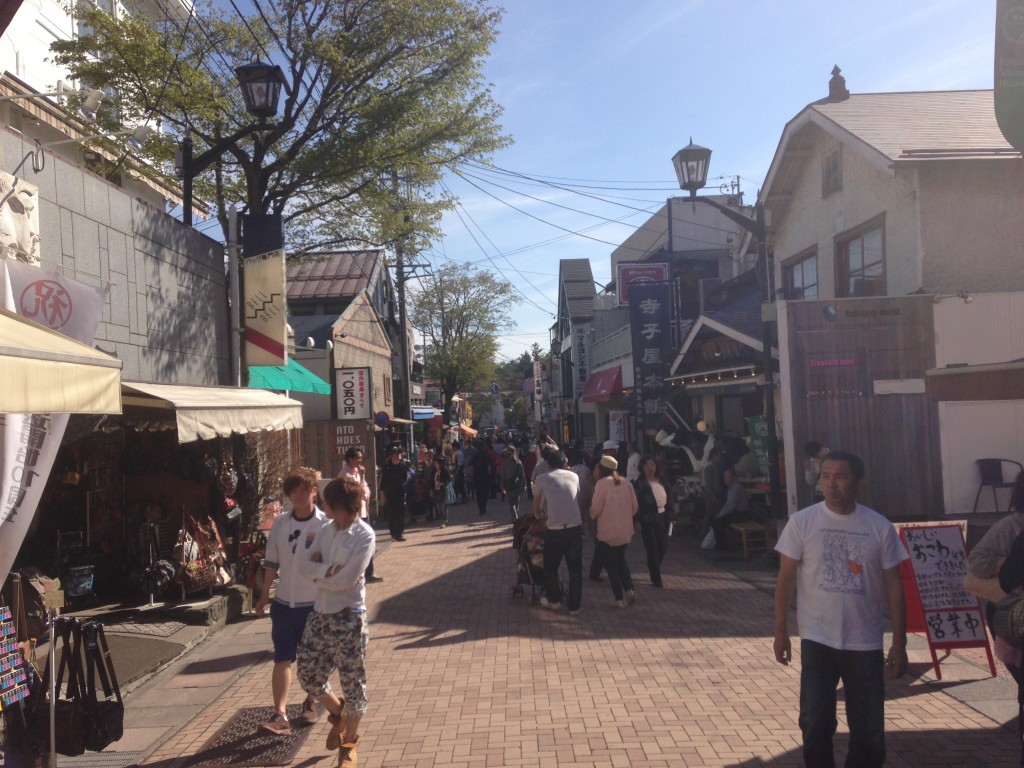 The beautiful mountain town of Karuizawa, where are retreat was located