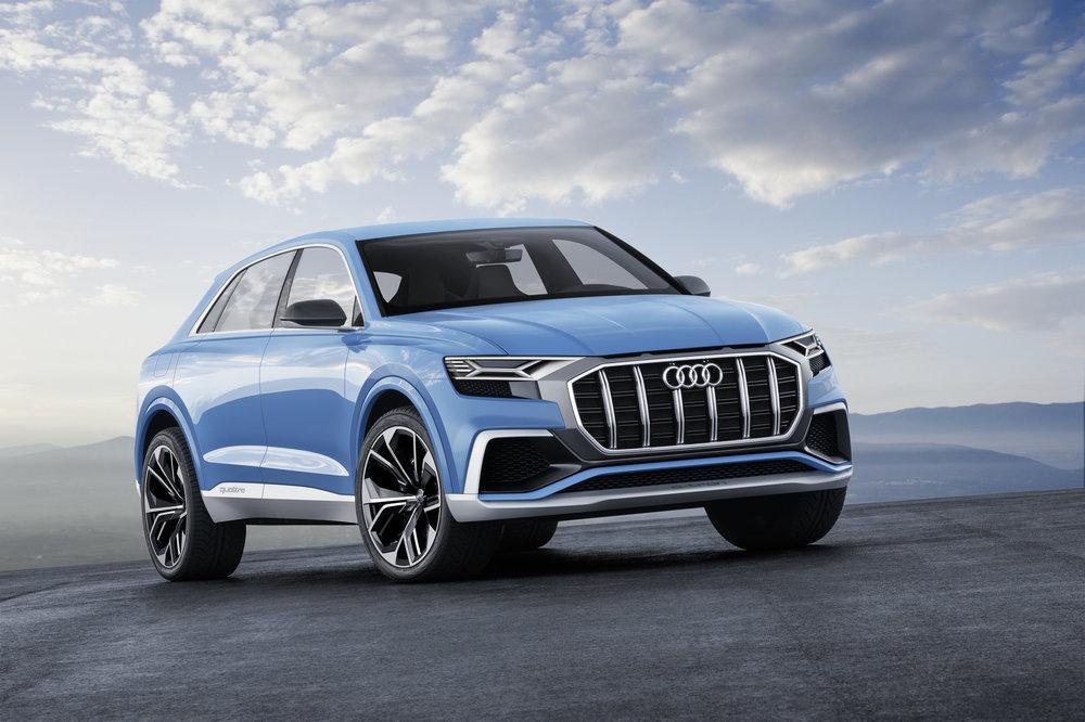 Štúdia nového SUV bola predstavená v januári tohto roka na autosalóne v Detroite. Autorom dizajnu Audi Q8 je šéfdizajnér značky Audi Marc Lichte.