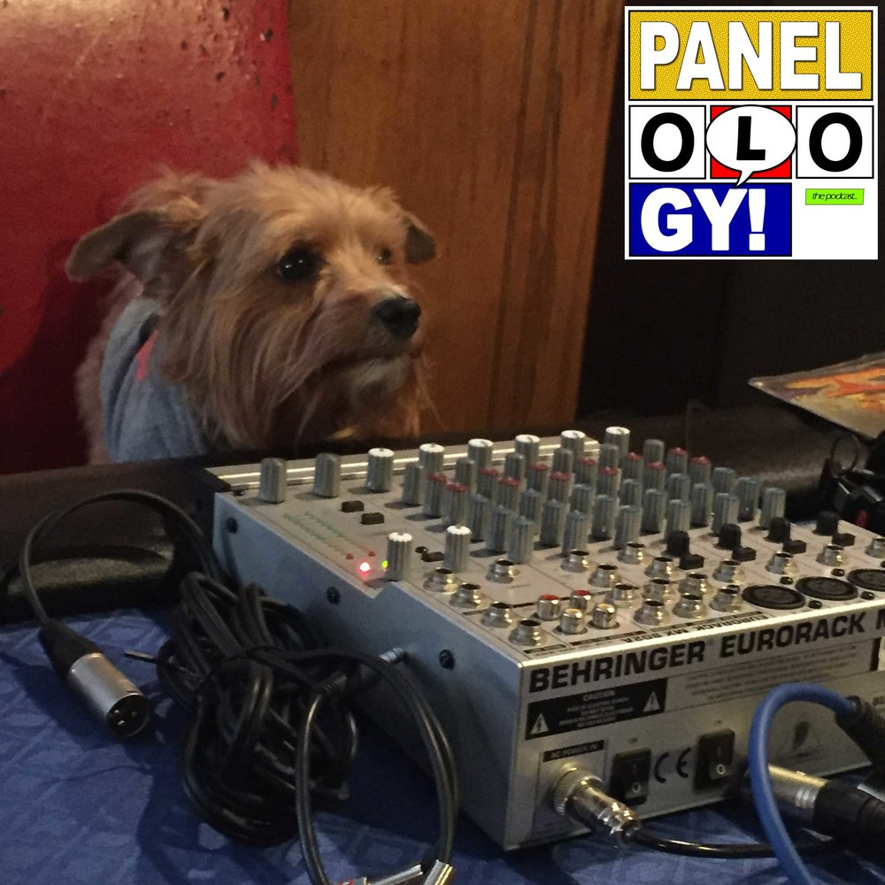 Alex couldn't come up with a good idea for show art this week, so please enjoy this photo of Rusty behind the sound board.