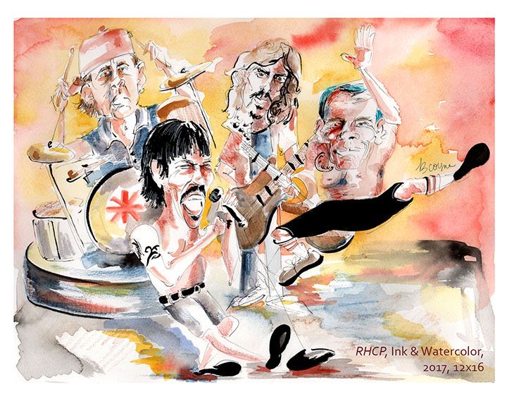 Red Hot Chili Peppers Sketch