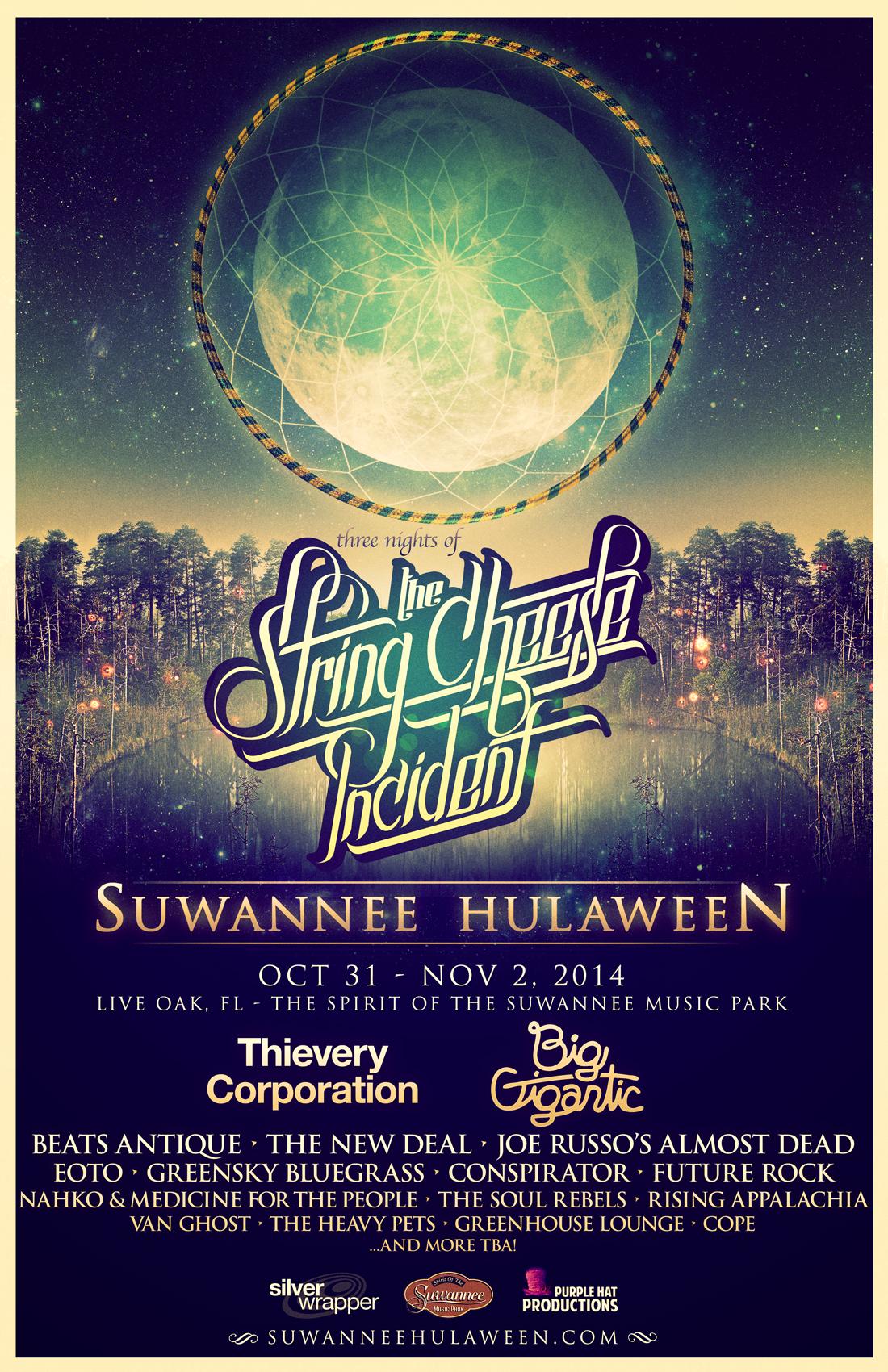 Suwannee Hulaween 2014 Wave 1 Poster 11x17