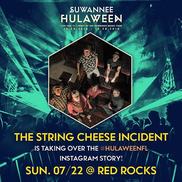 This Sunday, @SCI_Official is taking over the #HulaweenFL Instagram Story from their Red Rocks show! 🧀 Tune in 5 - 9 pm MT as they close out their three night run at RRX this weekend. 🧀
