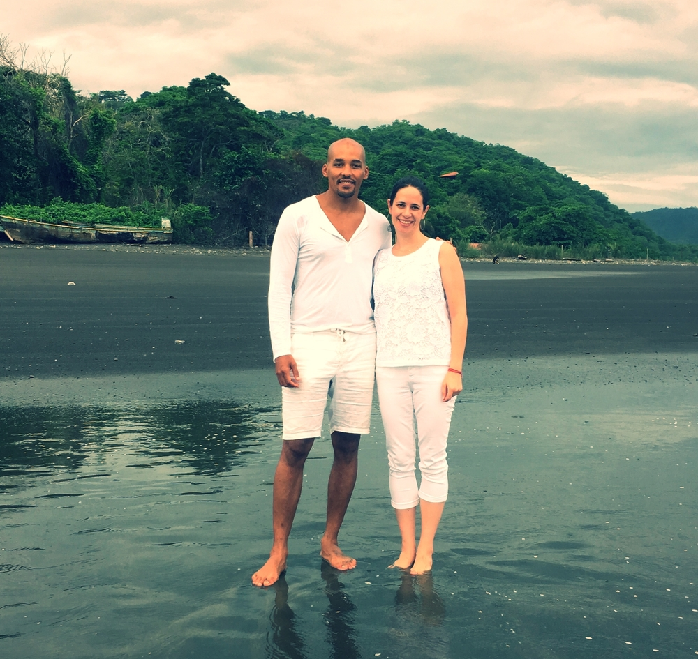 Light Watkins and Jill at a meditation retreat in Panama