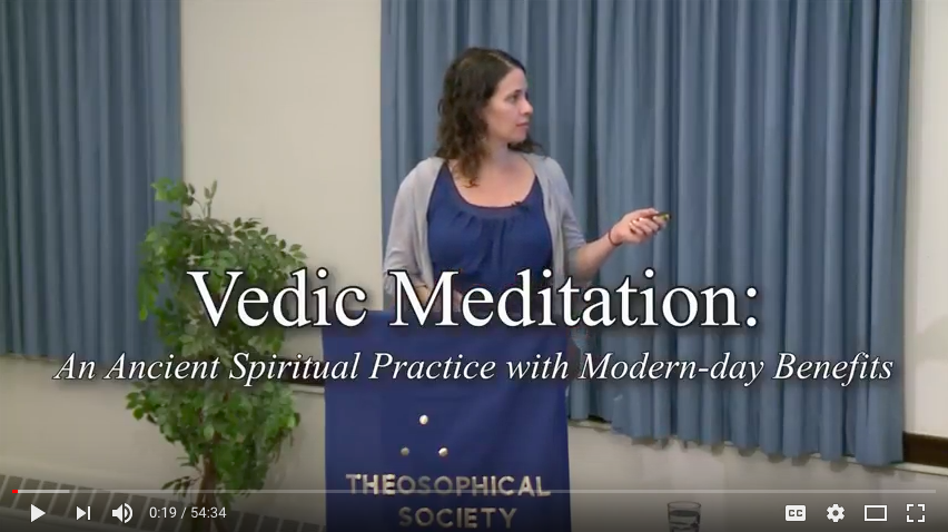 VEDIC PHILOSOPHYWatch Jill's presentation at the Theosophical Society on the philosophy and knowledge behind the practice of Vedic meditation. -