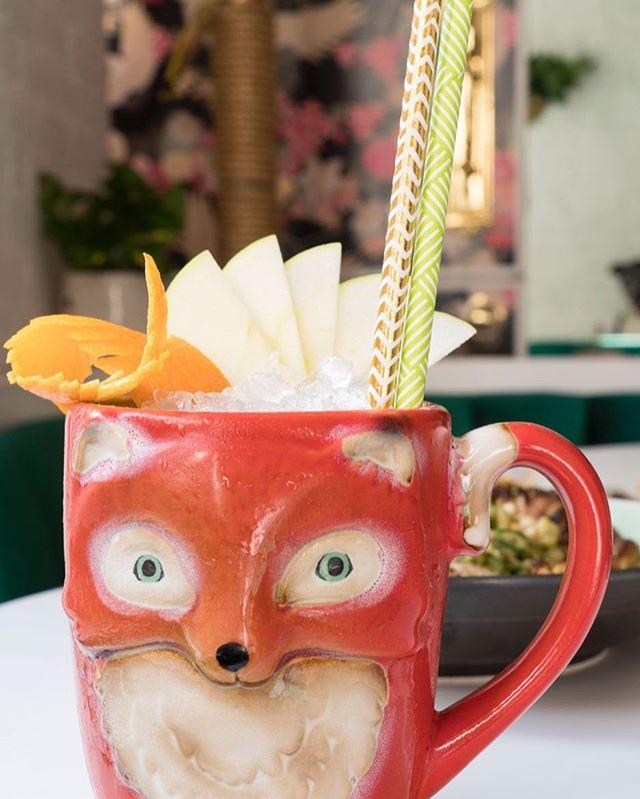 Feeling foxy 🦊... This is the St. Helena Dove we made for @ladybird_nyc with apple, orange, bittermans tiki bitters, buckspice bitters, peychauds bitters, lemon &  domaine glinavos semi sparkling orange wine. . . . . #fromrhumtowhiskey #drink #buzzfeedtasty #nytimesfood #cubancocktails #punchdrink #bourbonbartender #cocktails #imbibe #imbibegram #DRAAAAANKS #lowabv #barlife #bartender #craftcocktails #ladybirdnyc #bittermans #peychauds #ginger #orangewine #greekwine #foxy #foodandwine #sauveur