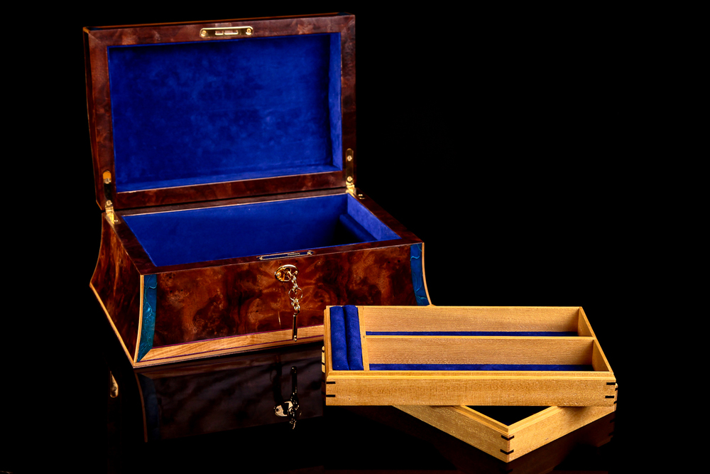 Jewellery box product photography
