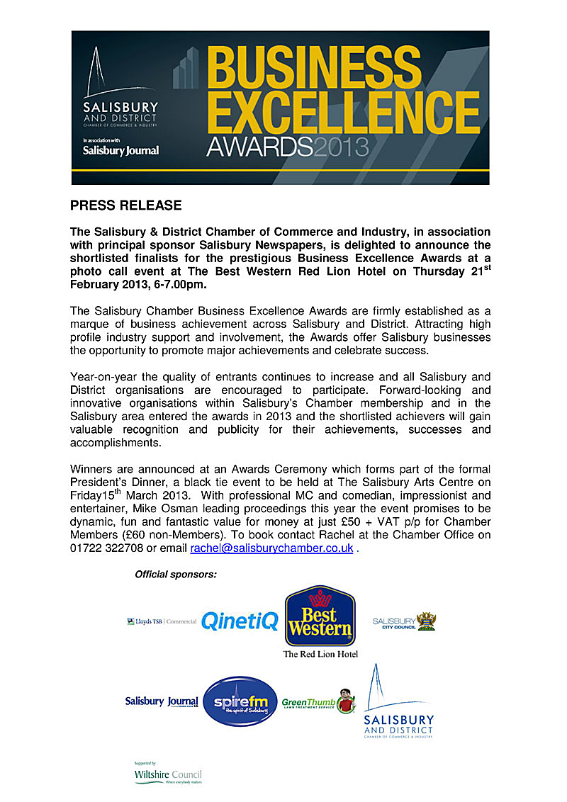 Microsoft Word - BEA 2013 Shortlist Announcement - press release