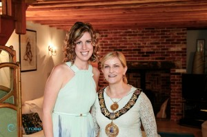 Lynsey Docherty and Mayor of Salisbury Cllr Jo Broom