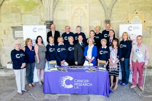 Lady Benson, president of Salisbury Cancer Research UK committee, joined chairman Yvonne Mills, Maria Gomez – Local Fundraising Manager, sponsors and organisers to launch the fundraiser at Salisbury Cathedral