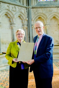 The Very Revd June Osborne and Simon Timms, Chair of Heritage Lottery Fund South West Committee