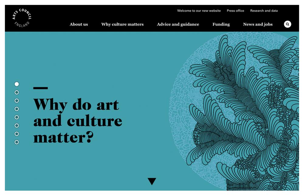 Arts Council England Website Artwork