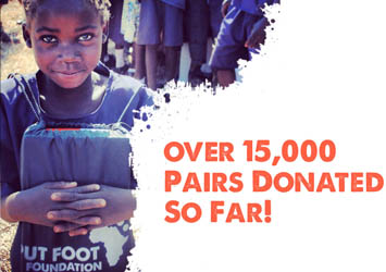 "Giving underprivileged children in Southern Africa ""Hope"", ""Pride"" and ""Dignity"" through the gift of brand new, sturdy school shoes!"""