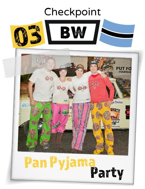 "CHECKPOINT BOTSWANA ""Pan Pyjama Party"""