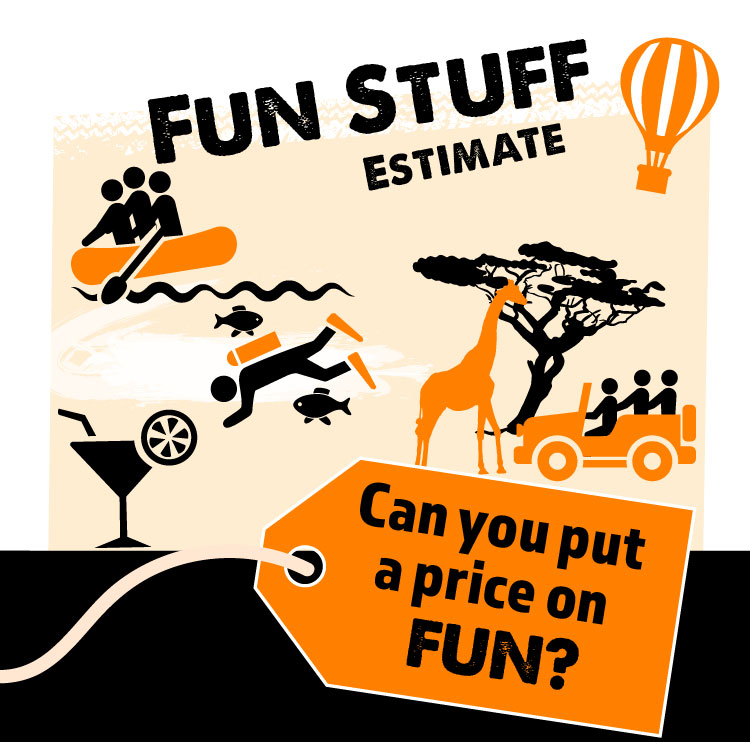 Fun Stuff - Beer, White River Rafting, National Parks, Diving, Hot Air Balloons, Cell Phone  Estimate - Can you put a price on fun?!?