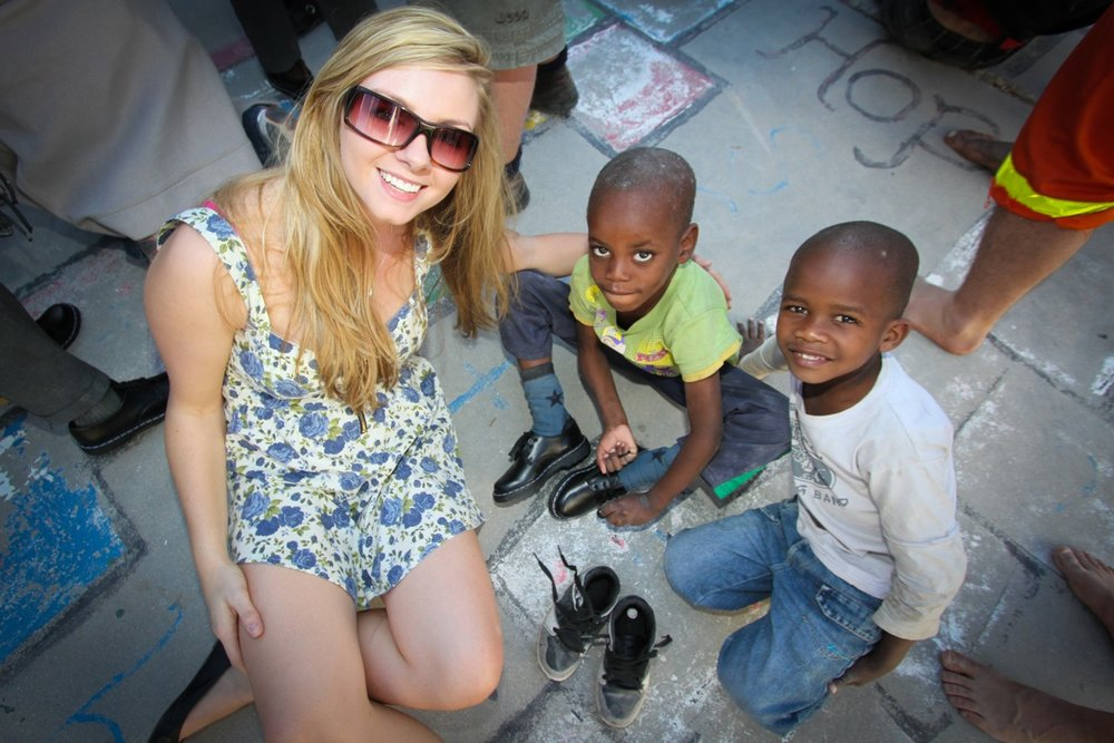 Gifting brand new school shoes to underprivileged children across Southern Africa…