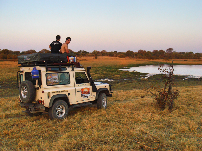 On the outskirts of Maun, Botswana in late 2010
