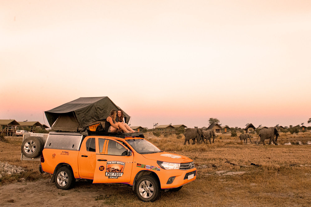 Put Foot 4x4 Safari Rentals - fully kitted 2019 Toyota Hilux Camper - Elephant Sands in Botswana