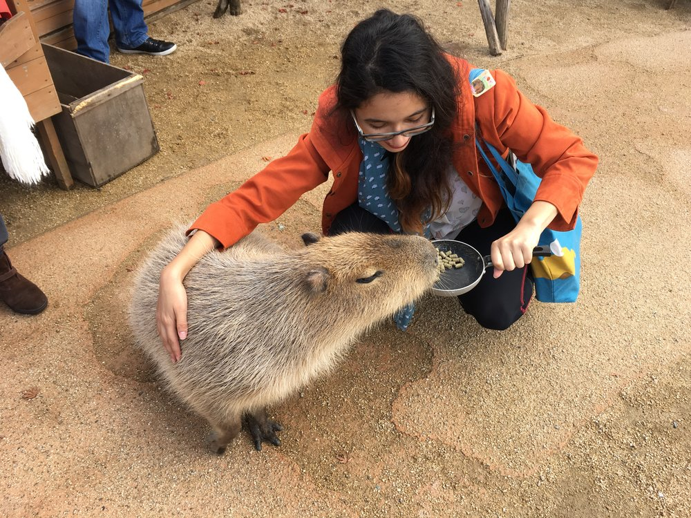 Madeline Zuluaga and Capybara.jpg