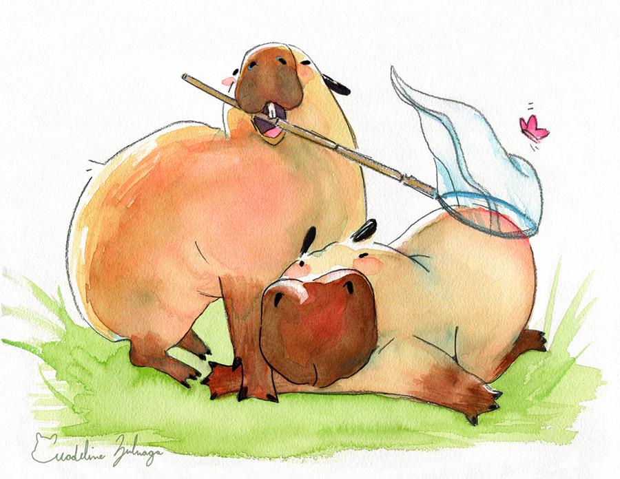 Madeline-Zuluaga-Capybaras-Bug-Hunting-resized.png